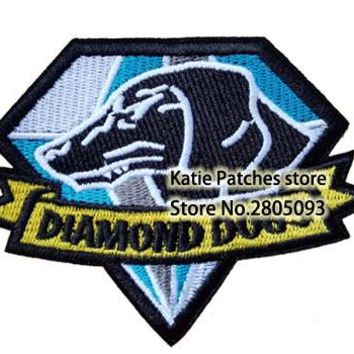 Metal Gear Solid MGS Fox Found Diamond Dog Special Force Group Embroidered Iron on Patch, Children DIY Clothing Accessories