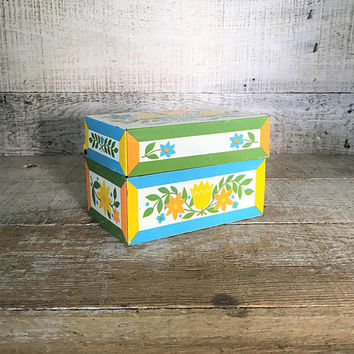 Recipe Box Vintage Metal Recipe Box Antique Farmhouse Chic Recipe Box Mid Century Recipe Box Vintage Photo Box Vintage Storage Box