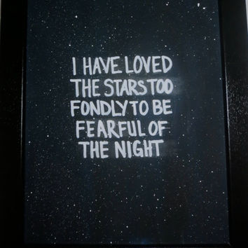 Night Sky 8x10 Quote Canvas