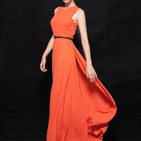 Vivienne Pleated Chiffon Gown