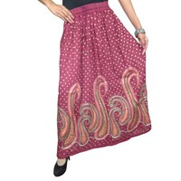Mogul Women's Long Skirt Sequin Work Ankle Length Peasant Skirts - Walmart.com