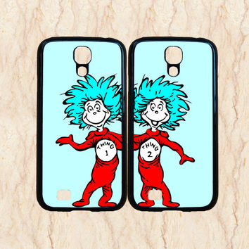 Samsung galaxy s4 case,Samsung Galaxy S3 case,Samsung Galaxy note 2 case,Samsung galaxy note 3,s3 mini case,thing 1 and thing 2,in plastic.