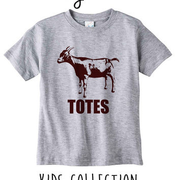 Totes Ma Goats Heather Grey / White Toddler Kids T Shirt Clothes Gift