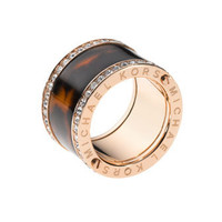 Michael Kors Pave Tortoise Barrel Ring, Rose Golden - Michael Kors