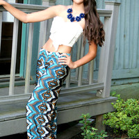 Midnight Dream Aztec Yoga Pants