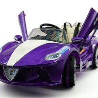 Ferrari Spider Style Kids Ride-On Car MP3 12V Battery Power Wheels R/C Parental Remote | Purple