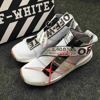 ONETOW OFF-WHITE x adidas Originals NMD City Sock NMD MID OW Running Sneaker BA7208NMD