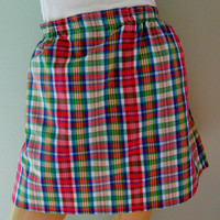 Vintage Wrangler Plaid Skirt with Adorable Horse