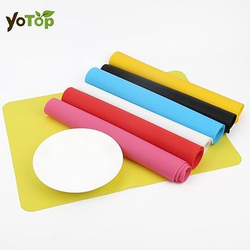 YOTOP Silicone Mats Baking Liner Silicone Oven Mat Heat Insulation Pad Bakeware Kids Foods Mats Non-stick Cooking Tools 40*30cm
