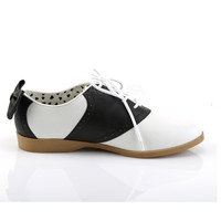 Funtasma Black and White Saddle Shoes with Bow