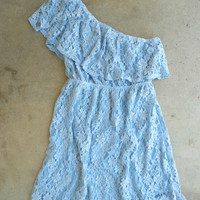 Ruffled Blue Lace Dress [3930] - $36.00 : Vintage Inspired Clothing & Affordable Dresses, deloom | Modern. Vintage. Crafted.