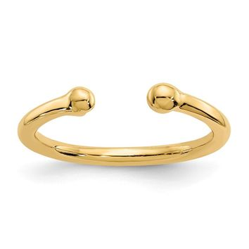 14k Yellow Gold Bead Toe Ring