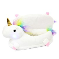 Winter Warm Plush Unicorn Slippers Kids Teen Girls Slippers Cotton Lights Slippers Home Slippers Size 35-42