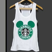 Starbucks Mickey for Tank top Mens and Tank top Girls ZeroSaint custom