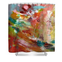 In My Dreams- Abstract Art by Linda Woods Shower Curtain