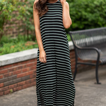 Loved You All Along Maxi Dress, Black-Ivory