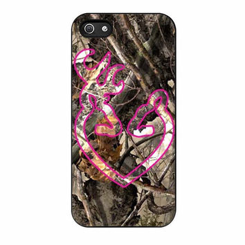 love browning deer camo pink cases for iphone se 5 5s 5c 4 4s 6 6s plus