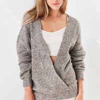 Silence + Noise Cozy Surplice Sweater - Urban Outfitters