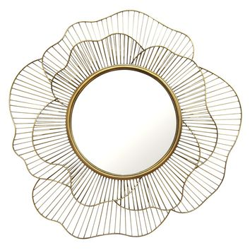 Jiselle Gold Flower Wall Mirror