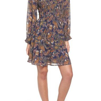 Sun & Shadow Paisley Smocked Dress | Nordstrom