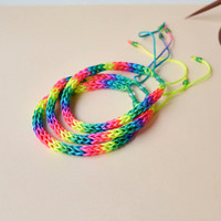 Set of 3 rainbow friendship bracelets, braided bracelet, super bright colorful bracelets, woven bracelet, gift idea, holiday trends, hippie
