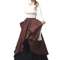 Cosplay Alert Wench Renaissance Tiered Bell Sleeve Women's Maxi Dress Larger Sizes Yay!