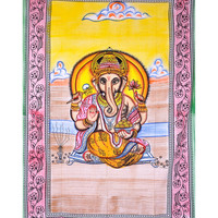 Lord Ganesha Tapestry, Indian Hippie Wall Hanging , Bohemian Wall Hanging, Bedspread Beach Coverlet throw Decor Beach blanket