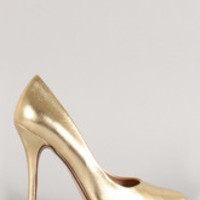 Women's Delicious Metallic Pointy Toe Stiletto Pump