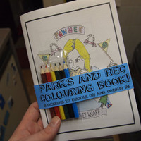 Parks & Rec / The Office Colouring In Illustrated Zine
