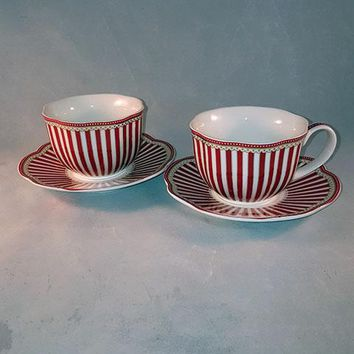 Grace's Teaware Josephine Red Cup and Saucer