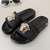 Versace Women Fashion Casual Slipper Shoes-5