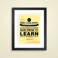 "Disney - Lion King ""Learn from the Past Poster"": 12x16 Art Print, Simba, Rafiki"