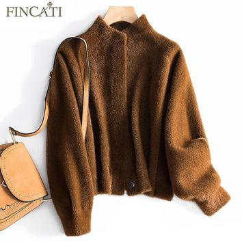 Women Jacket 2018 High-Grade Autumn Winter Alpaca Fibre Wool Covered Button Stand Collar Soft Outwear Coat Jackets Clothing