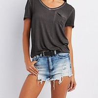 MINERAL WASH BOYFRIEND POCKET TEE