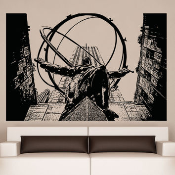 Vinyl Wall Decal Sticker Atlas Statue #5047