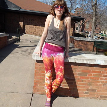 Psychedelic Yoga Pants Tie Dye Festival Psychedelic Burning Man
