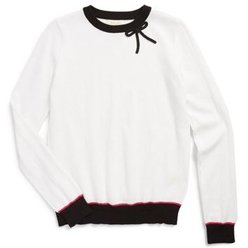 Girl's kate spade colorblock bow sweater,