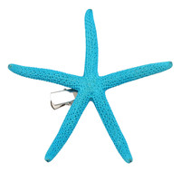 Turquoise Starfish Hair Clip | Hot Topic