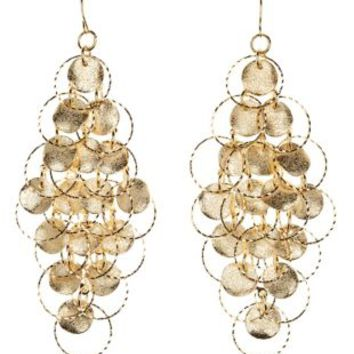 Gold Ring & Disk Chandelier Earrings by Charlotte Russe