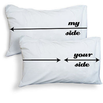 'my side, your side' pillowcases by twisted twee | notonthehighstreet.com