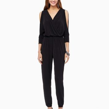 Carla Cold Shoulder Jumpsuit | Fashion Apparel - Rock Chic | charming charlie