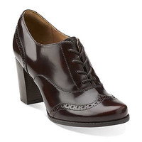 Ciera Pier in Burgundy Leather - Womens Shoes from Clarks
