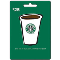 Walmart: Starbucks $25 Gift Card