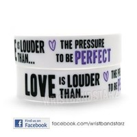 1 Love Is Louder Demi Lovato Wristband WHITE PURPLE