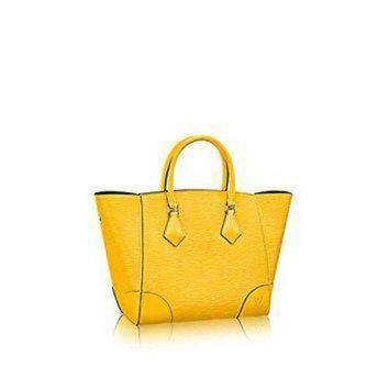 Tagre™ ONETOW Authentic Louis Vuitton Epi Leather Phenix PM Bag Tote Handbag Article: M50941 Jonquil