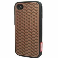 Vans Brown Black Silicone Waffle Shoe Case Cover for Apple iPhone 4 4s Vans Style