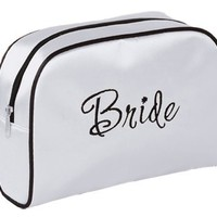 Lillian Rose 9-Inch by 6.5-Inch Bride Travel Bag, Medium, White