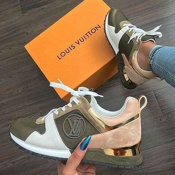 ABHCXX Louis Vuitton Green and Pink Sneakers