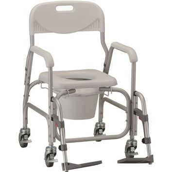 Deluxe Rolling Shower Chair and Commode | Nova #8801