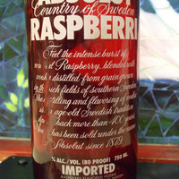 20 Ounce Pure Soy Candle in Reclaimed Absolut Raspberry Vodka Bottle - Your Choice of Scent